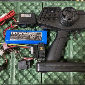 タミヤ ファインスペック2.4G プロポ バッテリー一式 XBシリーズ取り外し品 未使用品 電動RCカー用 TEU-105BK