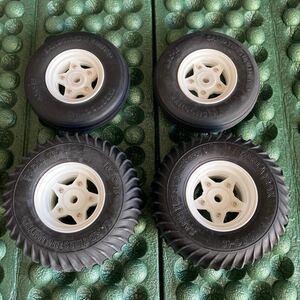 タミヤ グラスホッパー用 タイヤホイールセット XB外し未使用品 ファイティングバギー ワーゲンオフローダー マイティフロッグ