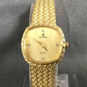 310/23 183716 CYMA レディース 腕時計 シーマ 200-2 ゴールドカラー 稼動