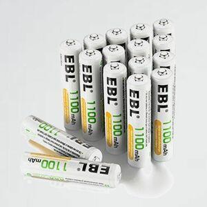 新品 未使用 単4形充電池 EBL 4-8O ケ-ス付き 単四充電池 充電式ニッケル水素電池 高容量1100mAh 16本入り 約1200回使用可能