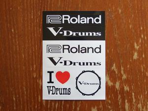 ステッカー Roland V-Drums 検 シール 電子ドラム 未使用新品 Vドラム