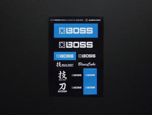ステッカー BOSS 検 シール ボス ブルースキューブ Blues Cube Roland