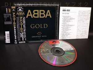 ☆帯&日本語解説付 良品!!☆『ABBA GOLD GREATEST HITS アバ ゴールド グレイテスト・ヒッツ』国内盤BEST ALBUM 19曲 ♪ ベスト CDアルバム
