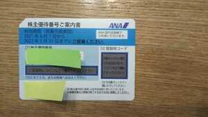 ●全日空 ANA 株主優待券 1枚 定型郵便送料無料●2