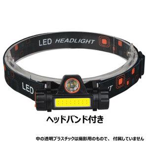 LED ヘッドライト 小型 強力 充電式 明るい USB キャンプ 作業 停電 災害 津波