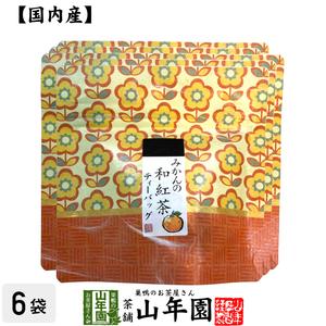 国産100% みかんの和紅茶 ティーパック 2g×5包×6袋セット 送料無料 お茶 ギフト お土産 ギフト プレゼント 内祝い