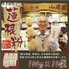 蓮根粉 100g×10袋セッ 国産れんこん粉 送料無料 お茶 ギフト お土産 ギフト プレゼント 内祝い お返し