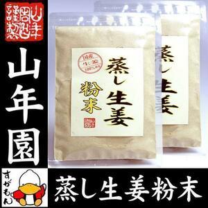 国産 無添加 100% 蒸し生姜 粉末 45g×2袋セット 送料無料 お茶 ギフト お土産 ギフト プレゼント 内祝い お返し