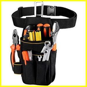 【送料無料-最安】[VOW&ZON] コンパクト設計 多機能ポケット カラビナフック ウエストバッグ G1190 ベルト付 小物入れ 工具入れ 作業袋