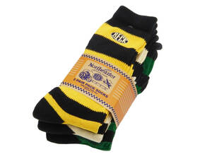 TMA2116 (999) トイズマッコイ TOYS McCOY ベック BECK 3パック ボーダー ブーツソックス ソックス 靴下 ワンポイント刺繍 新品 送料無料