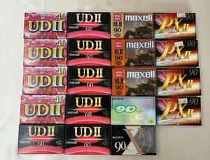 オーディオ カセットテープ 19個セット おまとめ maxell マクセル UDⅡ SONY Panasonic 等 未開封 未使用 保管品