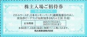 名鉄インプレス 日本モンキーパーク 他 株主入場券 22年7月15日まで