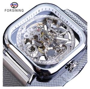 新品 メンズ高級腕時計 41mm 機械式 自動巻き 希少 紳士ウォッチ 夜光 防水 スケルトンデザイン スクエア カジュアル