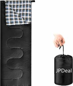 寝袋 シュラフ 封筒型 保温 軽量 210T防水シュラフ快適温度-10℃~25℃