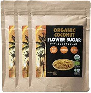 3袋 有機JASオーガニック ココナッツシュガー(Organic coconuts suger) 350g 3袋