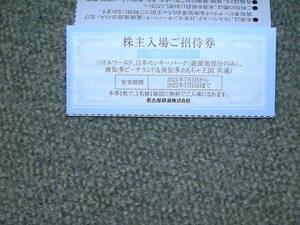 南知多ビーチランド、リトルワールド 日本モンキーパーク招待券、送料60円
