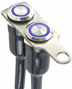 新品_オートバイハンドルバースイッチ ATVバイク 12V LED ヘッドライトフォグライトスイッチ 防水 過負荷保護 ブルーラ