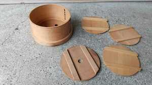 せいろ 蒸し器 木製 蓋付昭和レトロ おひつ 調理器具 寿司桶 業務用 深さ12cm
