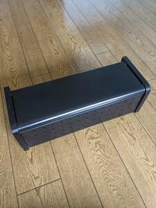 サンワサプライ ケーブル&タップ収納ボックス ブラック CB-BOXS4BK