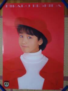 332◆◆西田ひかる ファーストアルバム CLEAR ポニーキャニオン 1989年 告知ポスター 非売品 840mm×595mm 当時もの レア品