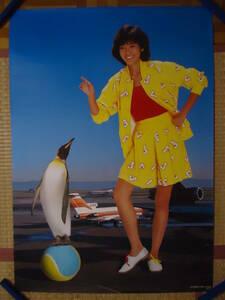 340◆◆早見優 アルバム COLORFUL BOX トーラスレコード 1983年 告知ポスター 非売品 840mm×595mm 当時もの レア品