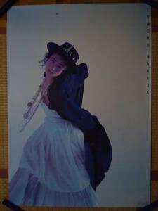 343◆◆原田知世 アルバム NEXT DOOR CBSソニー 1986年 告知ポスター 非売品 840mm×595mm 当時もの レア品