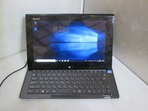 [S-211015]訳アリ★SONY Ultrabook SVD112A12N 11.6インチ/CPU:i5-3337U 1.80GHz/メモリ6GB/SSD128GB/無線あり/Windows 10 Home★ジャンク