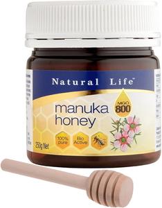 ナチュラルライフ マヌカハニー MGO800+ 250g (UMF20+ 相当) ハニーディッパー付[国内正規品]MGO測定機関成績証明書取得済 マヌカ蜂蜜