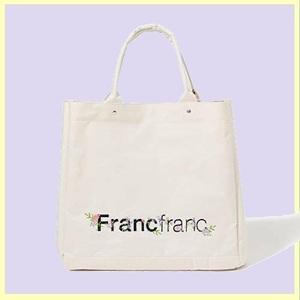 ☆★即決歓迎★☆新品☆未使用★ フランフラン Francfranc D-9H バック ト-トバック ロゴ ト-トバッグ フラワ-刺繍 L ト-トバッグ