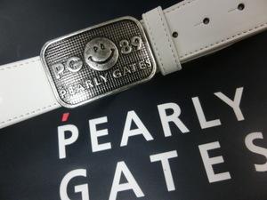 1点限り!PEARLY GATES パーリーゲイツ ニコちゃん PG 89ロゴ ベルト サイズ調節可能□