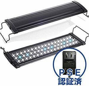 新品 黒 超白光600(9w) [MEOW MARKET]アクアリウムライト フラット LED ランプ LED600LHRI