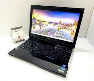 【新品SSD512GB】漂う高級感 NEC LL750/H☆第3世代 Core i7/RAM8GB/Win10/Blu-ray/YAMAHA音響/☆ブラック(スクラッチリペア)/即決送料無料!