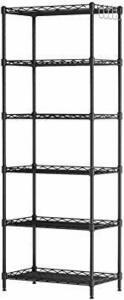 新品ブラック スチールラック 収納 棚 ラック メタル スチール シェルフ キッチン収納 ワイヤーラック 55&4770