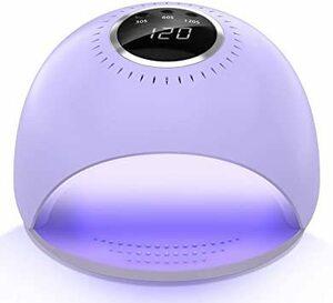 新品【2020年限定色】UVライト 84W LEDネイルドライヤー レジン用 硬化ライト タイマー設定可能 自動セン6OFT