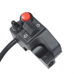 新品12V 22mmハンドルバーオートバイ用 スイッチ ウィンカー クラクション ヘッドライト 押しボタンスイッYKFK