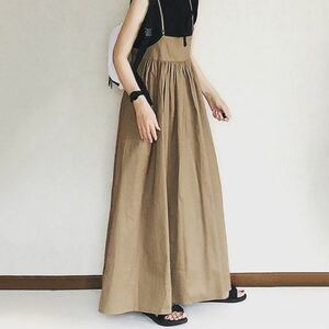レディース ファッション サロペット オールインワン ワイドパンツ ロングスカート
