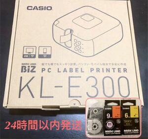 カシオ ラベルライター KL-E300 ★テープ6mm 9mm 24mm おまけつき♪