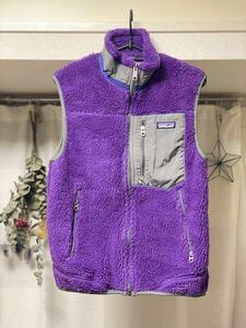 【限定カラー★レア】 patagonia パタゴニア Purple 紫 MEN'S XS フリース 2010 CLASSIC RETRO-X VEST メンズ STY 23046F0