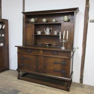 イギリス アンティーク 家具 ドレッサー カップボード キャビネット 飾り棚 食器棚 木製 オーク 収納 英国 COPBOARD 6200c