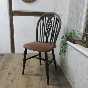 イギリス アンティーク 家具 キッチンチェア ホイールバック 椅子 イス 木製 英国 KITCHENCHAIR 4302d