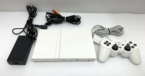 送料無料h29101 SONY ソニー PlayStation2 プレイステーション2 ホワイト SCPH-77000 コントローラー SCPH-10010 PS2 美品 動作確認済み