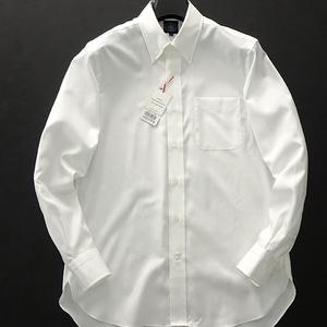 新品 ジェイプレス MADE IN JAPAN ボタンダウンシャツ 39-84 白【I40291】 J.PRESS 無地 長袖 日本製 コットン PREMIUM PLEATS メンズ