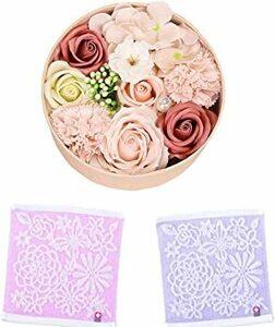 ピンク [Azrine] ソープフラワー フラワーソープ 造花 プレゼント 花 女性 友達 誕生日 ギフト お祝い 記念日 ク