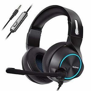 新品ブルー NUBWO N11 ゲーミングヘッドセット PS4 ヘッドセット マイク付き ヘッドホン 高音質ステレオAT6V