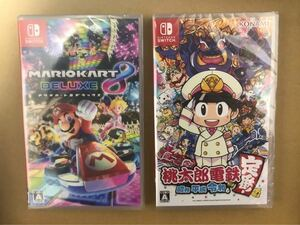 新品 未開封 Switch マリオカート8 桃太郎電鉄 2本セット