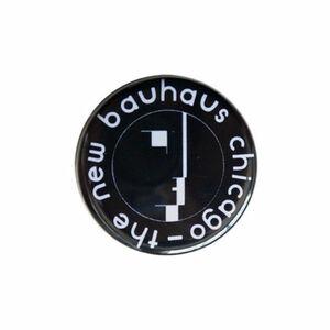 【アメリカ製/新品/即決】The New Bauhaus chicago/バウハウス/ミュージアム/モノトーン 缶バッジ/Φ32mm/激レア (nb-003)