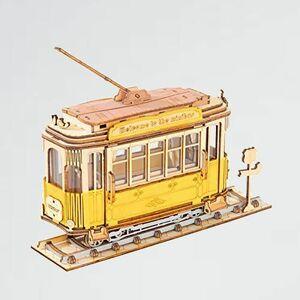 新品 目玉 立体パズル Robotime P-RF 電車 TG505 木製パズル クラフト おもちゃ オモチャ 知育玩具 男の子 女の子 大人 入園祝い