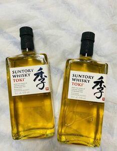 【2本セット】サントリーウイスキー 季TOKI ブレンデッドウイスキー 国外向け