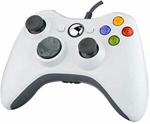White XBOX360 コントローラー PC コントローラー 有線 ゲームパッド ケーブル Windows PC Win7/