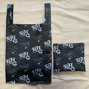 ハンドメイド レジ袋型エコバック【ブラックサーフィンスヌーピー柄】撥水生地